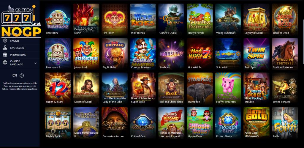 Screenshot Griffon Casino