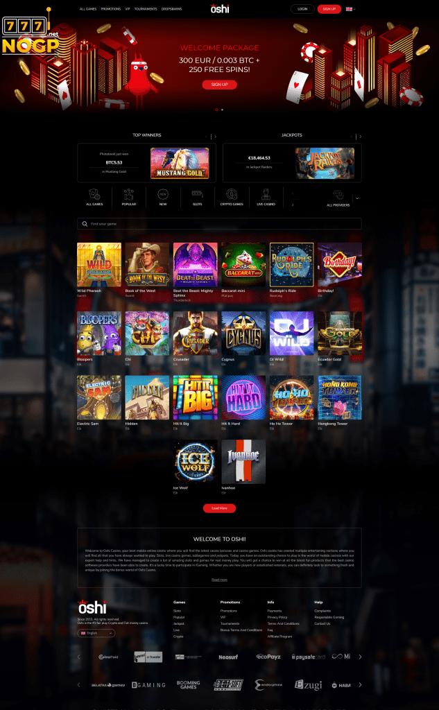Oshi Casino screenshot new