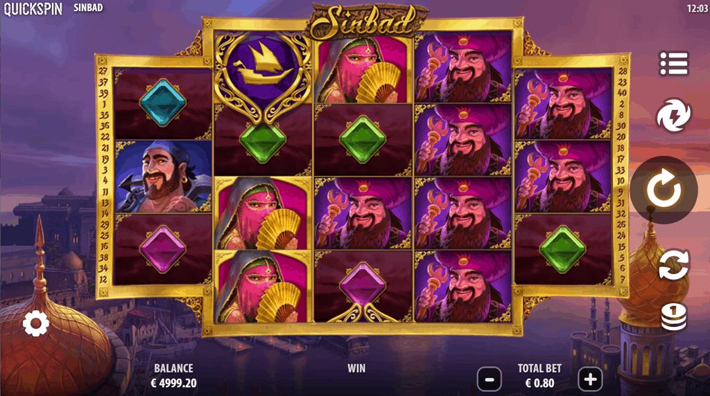 Sinbad gokkast Quickspin