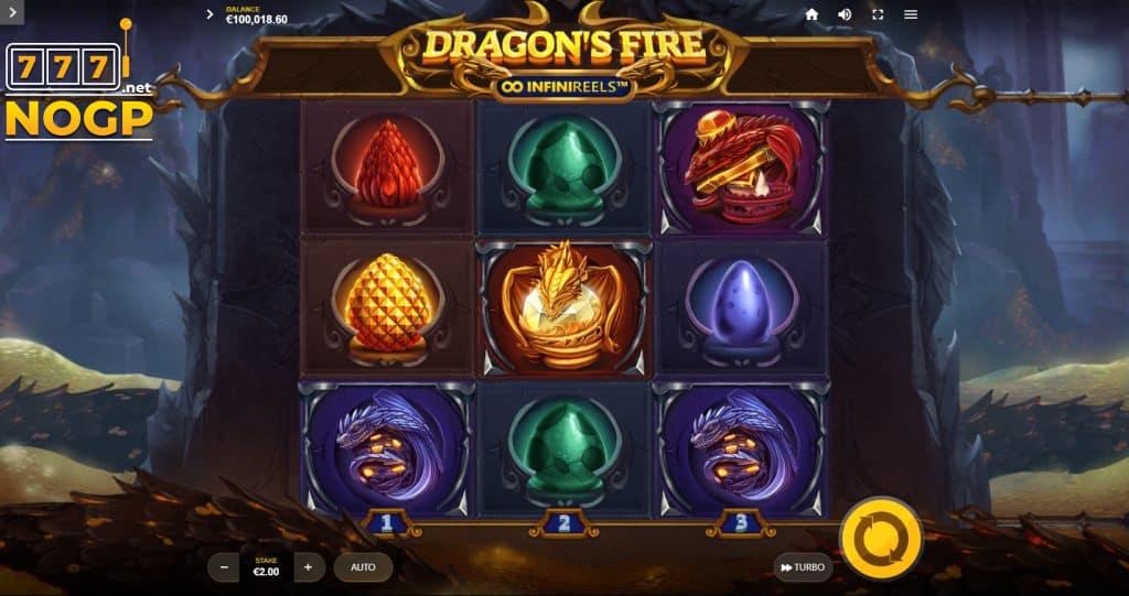 Dragons Fire Infinireels - Startveld