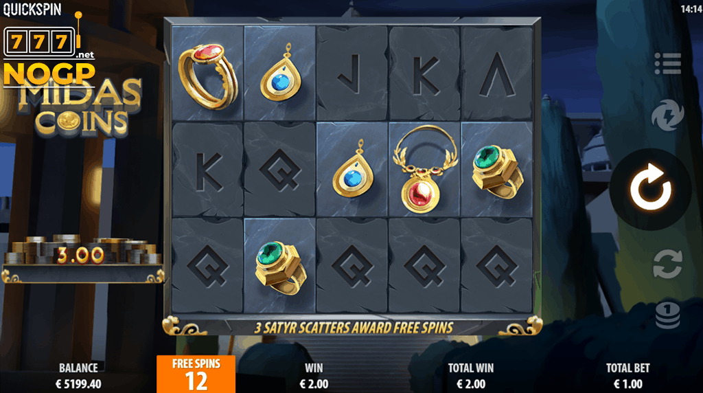 Midas Coins - Free spins feature