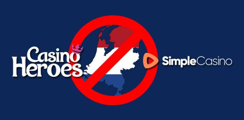 Casino Heroes en Simple Casino stoppen in Nederland