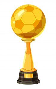 Voetbalbeker ter illustratie