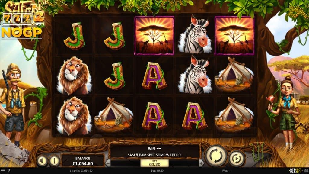 Safari Sam 2 video slot screenshot
