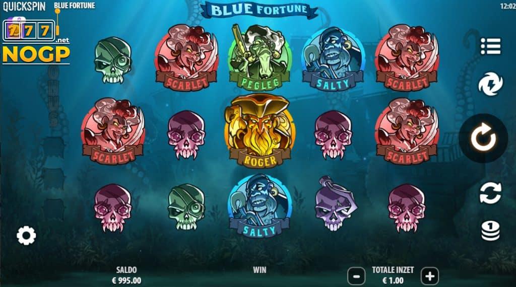 Blue Fortune video slot screenshot