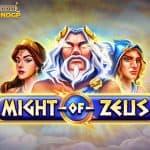 Might of Zeus video slot logo