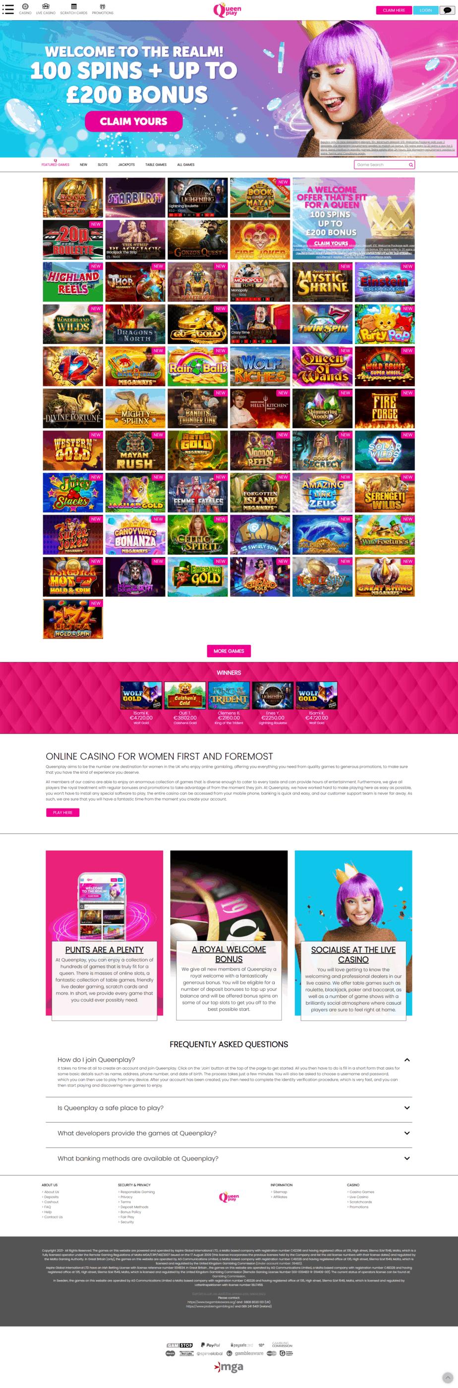 Screenshot QueenPlay Casino