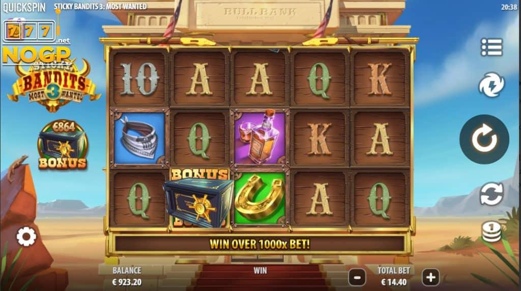 Sticky Bandits 3 Most Wanted slot screenshot
