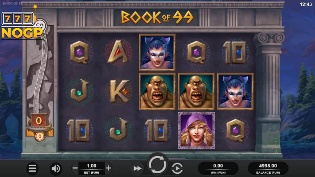 Book of 99 video slot screenshot