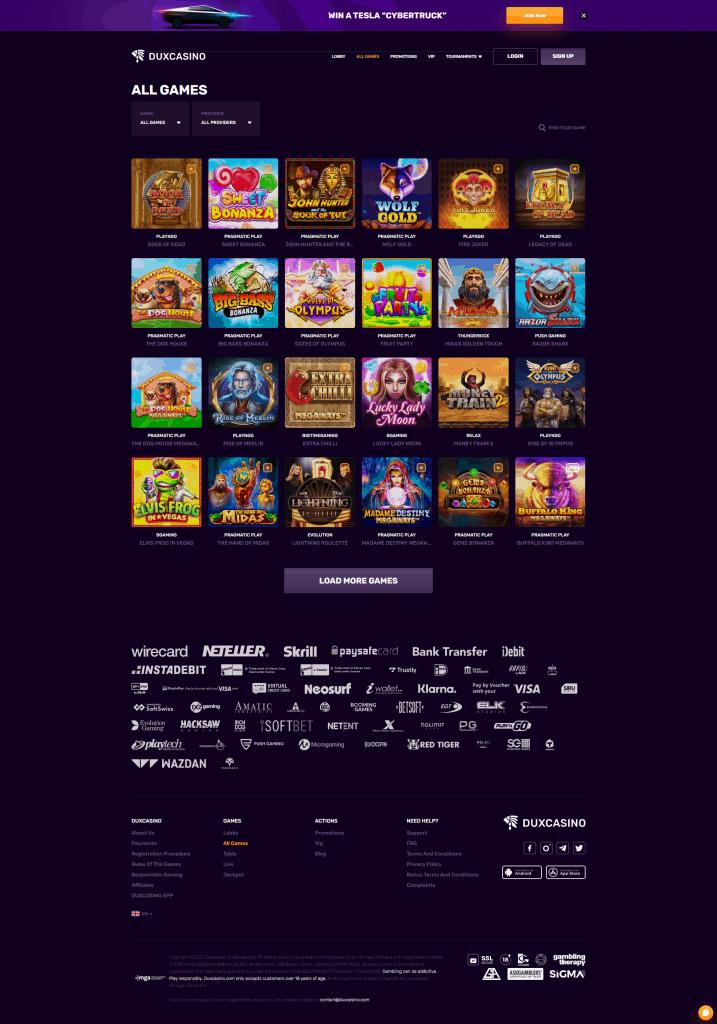 Dux Casino screenshot