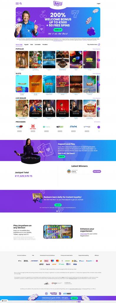 Barz Casino screenshot