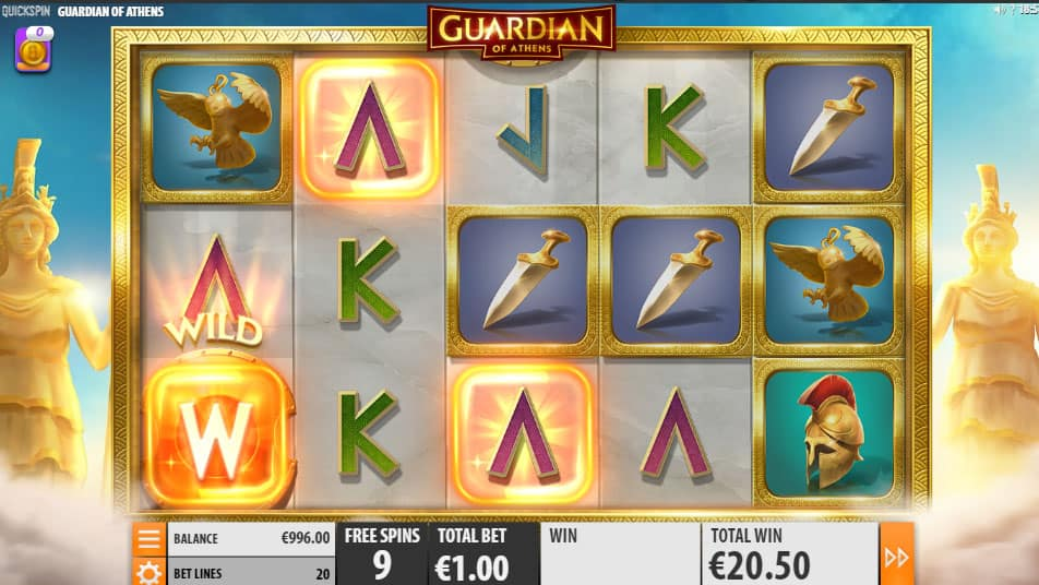 Guardian of Athens free spins
