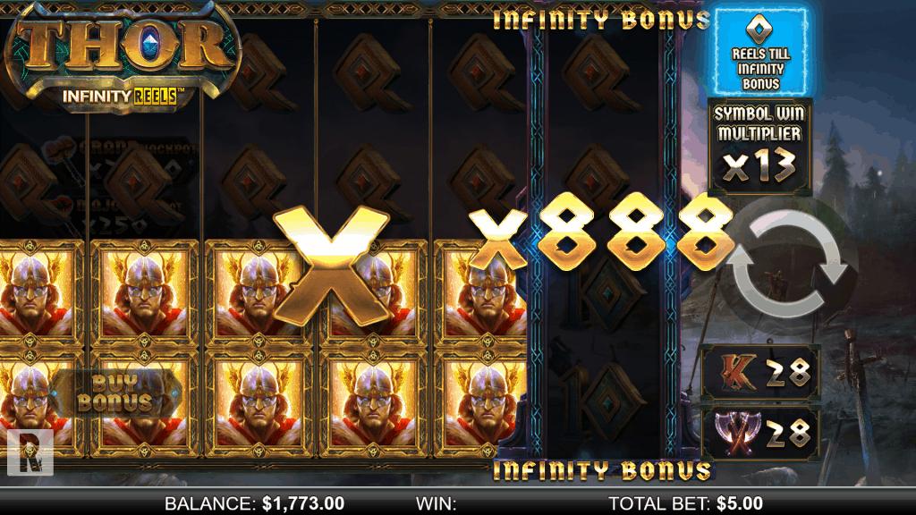 Thor Infinity Reels - Infinity Bonus screenshot