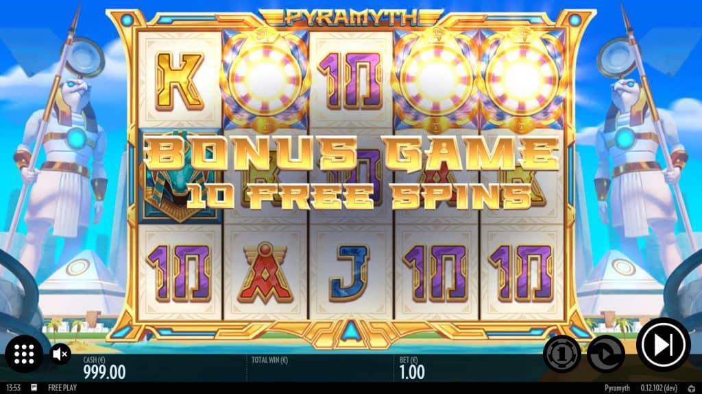 Pyramyth bonusspel.