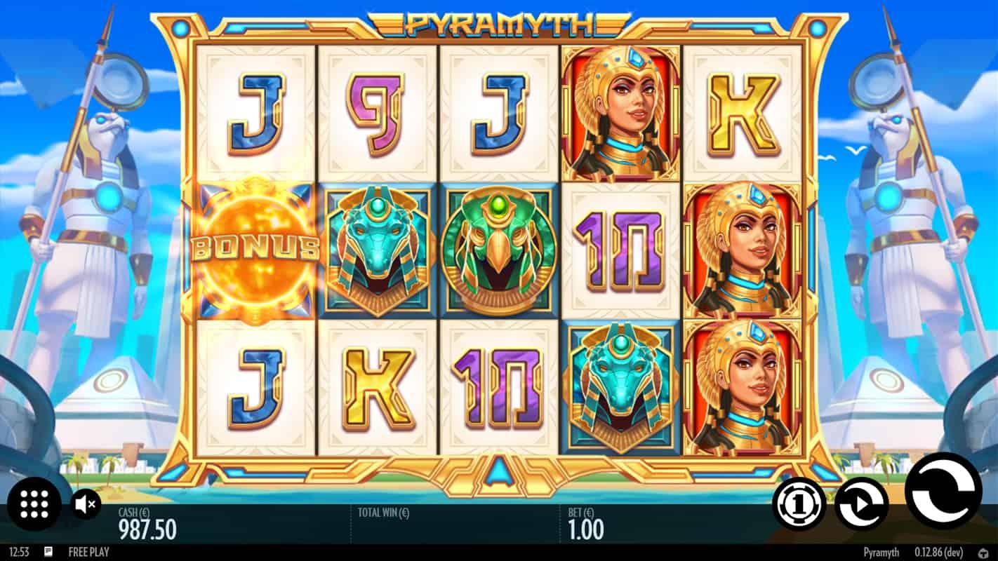 Pyramyth gokkast video slot screenshot