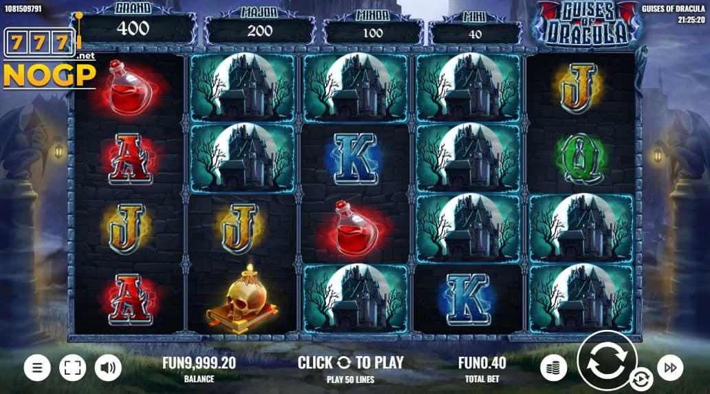 Guises of Dracula slot screenshot