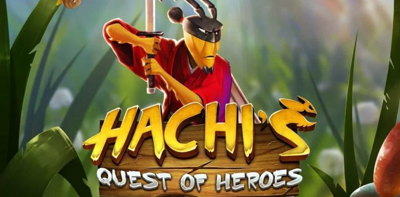 Hachi's Quest of Heroes video slot logo
