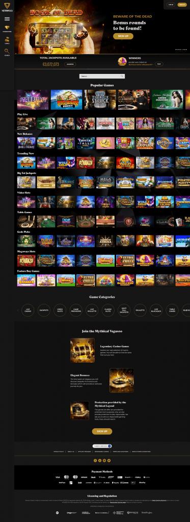 Vegasoo Casino screenshot