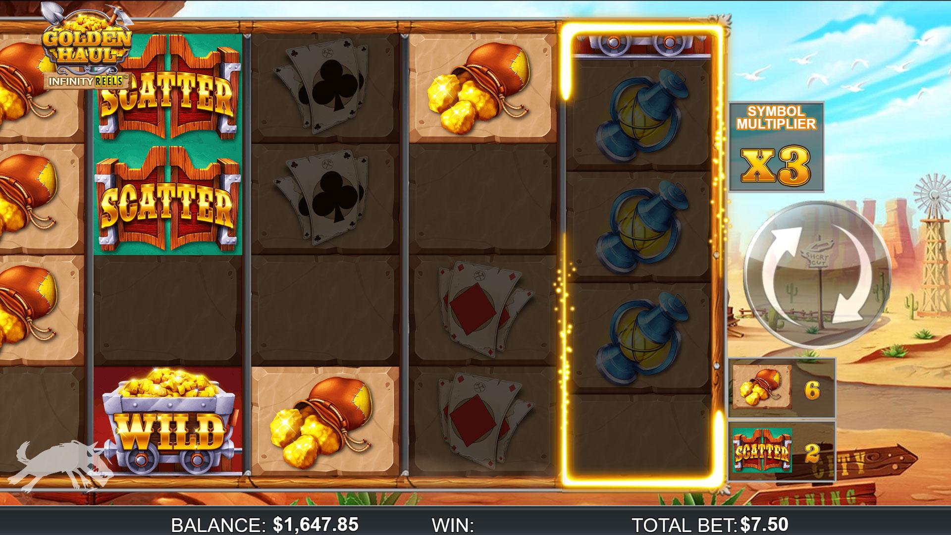 Golden Haul Infinity Reels slot screenshot