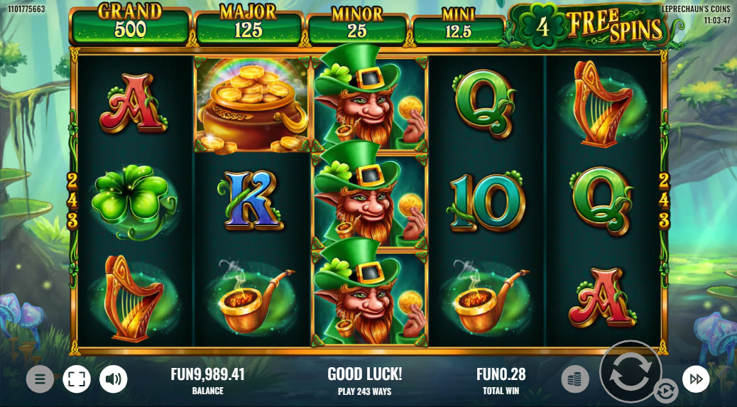 Leprechauns Coins - Free spins feature
