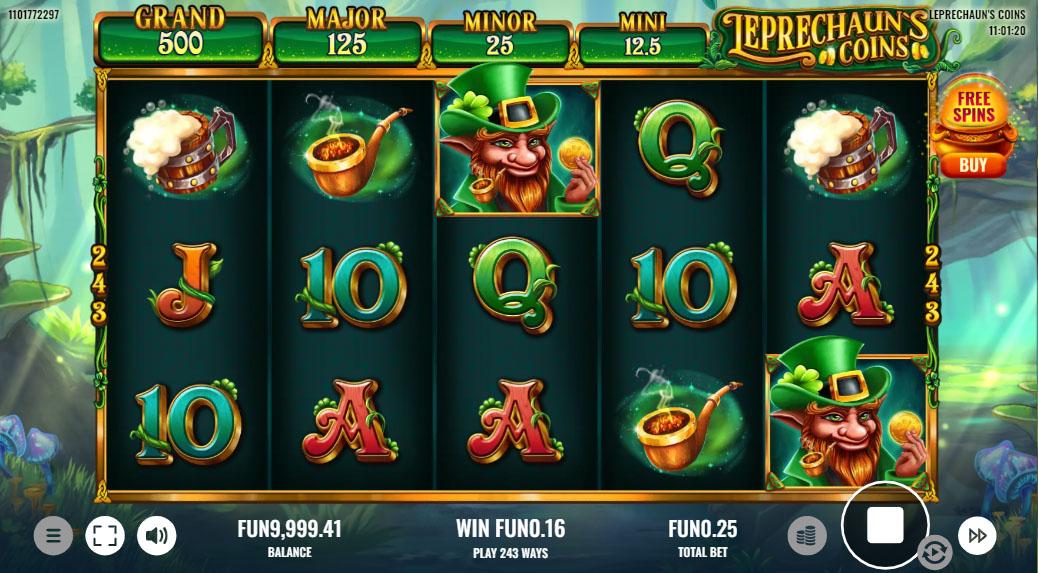 Platipus' Leprechauns Coins slot screenshot