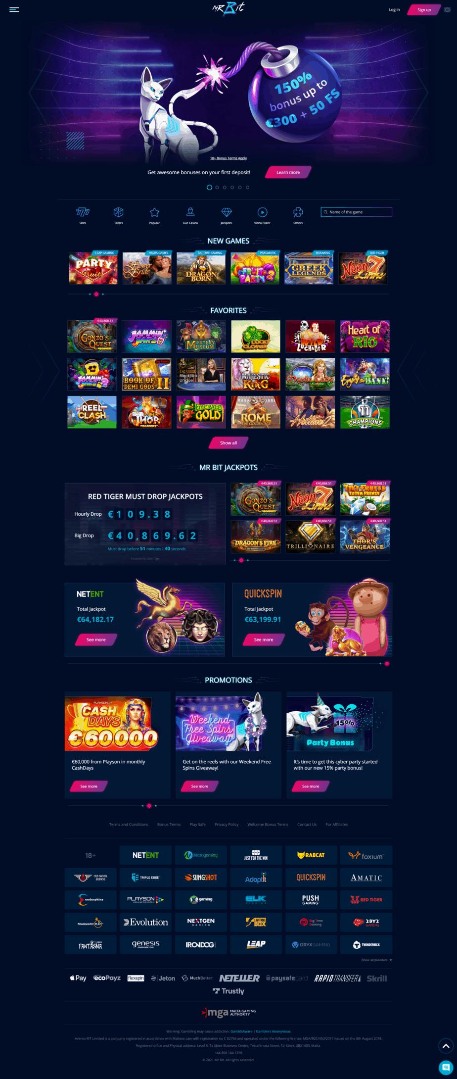 MrBit Casino screenshot