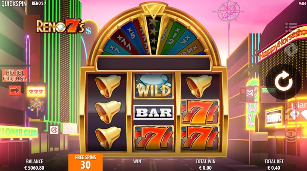 Reno 7s gratis spins functie screenshot