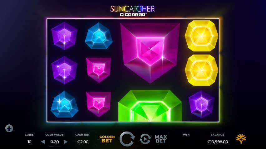 Yggdrasil's Suncatcher Gigablox slot screenshot