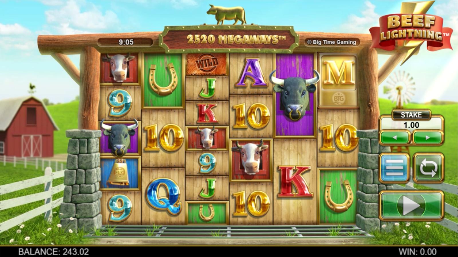 Beef Lightning Megaways slot screenshot