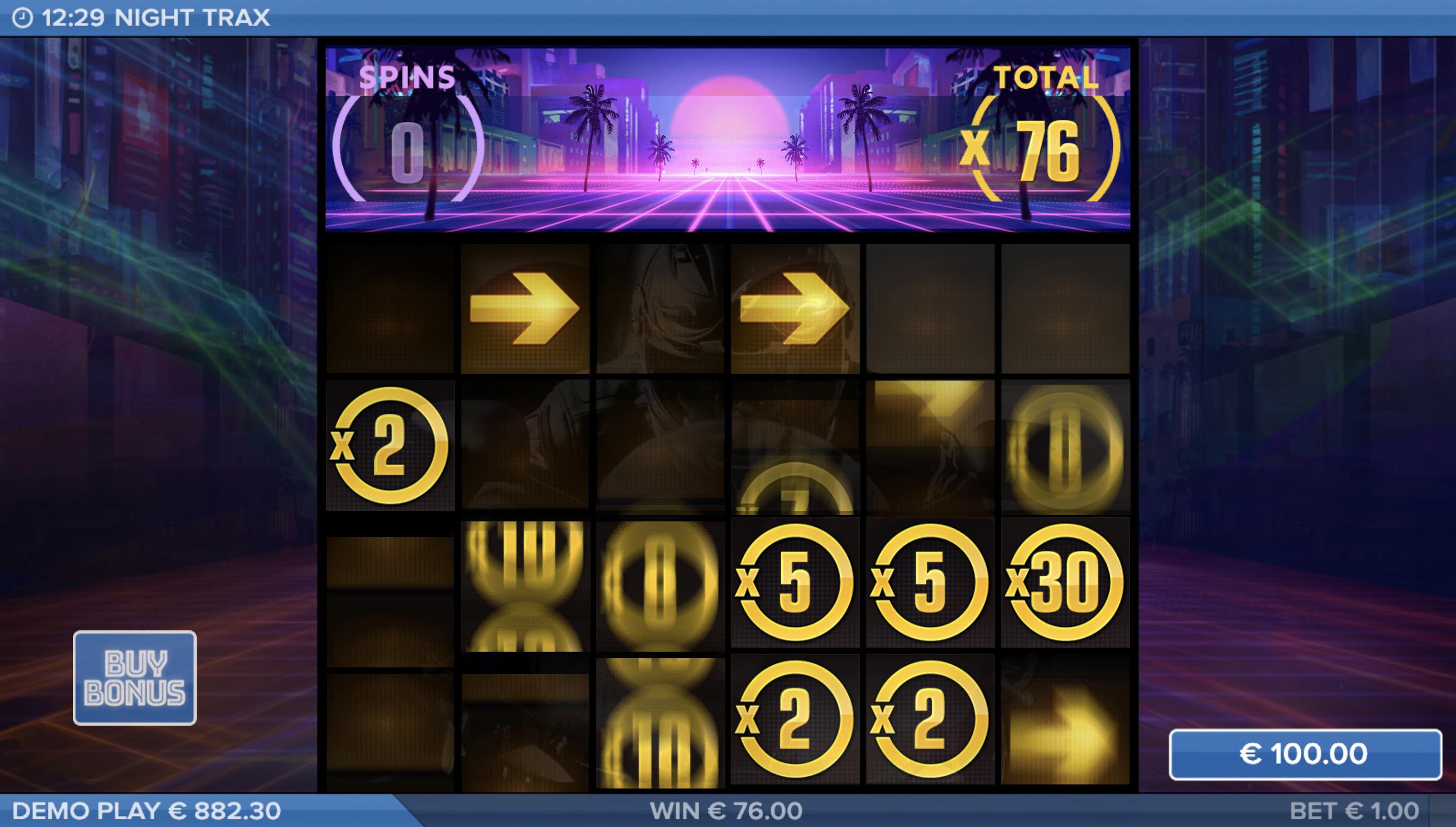 Night Trax - Bonusspel screenshot