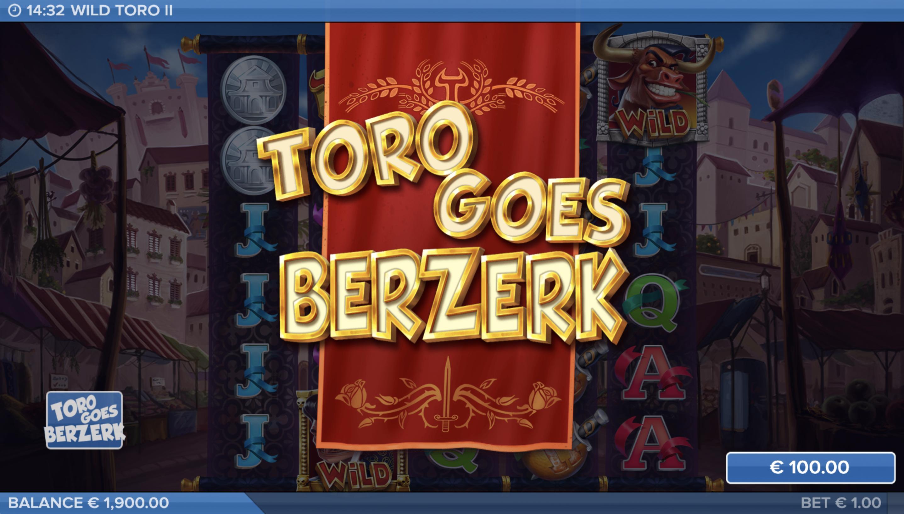 Toro Goes Berzerk Wild Toro 2 slot screenshot