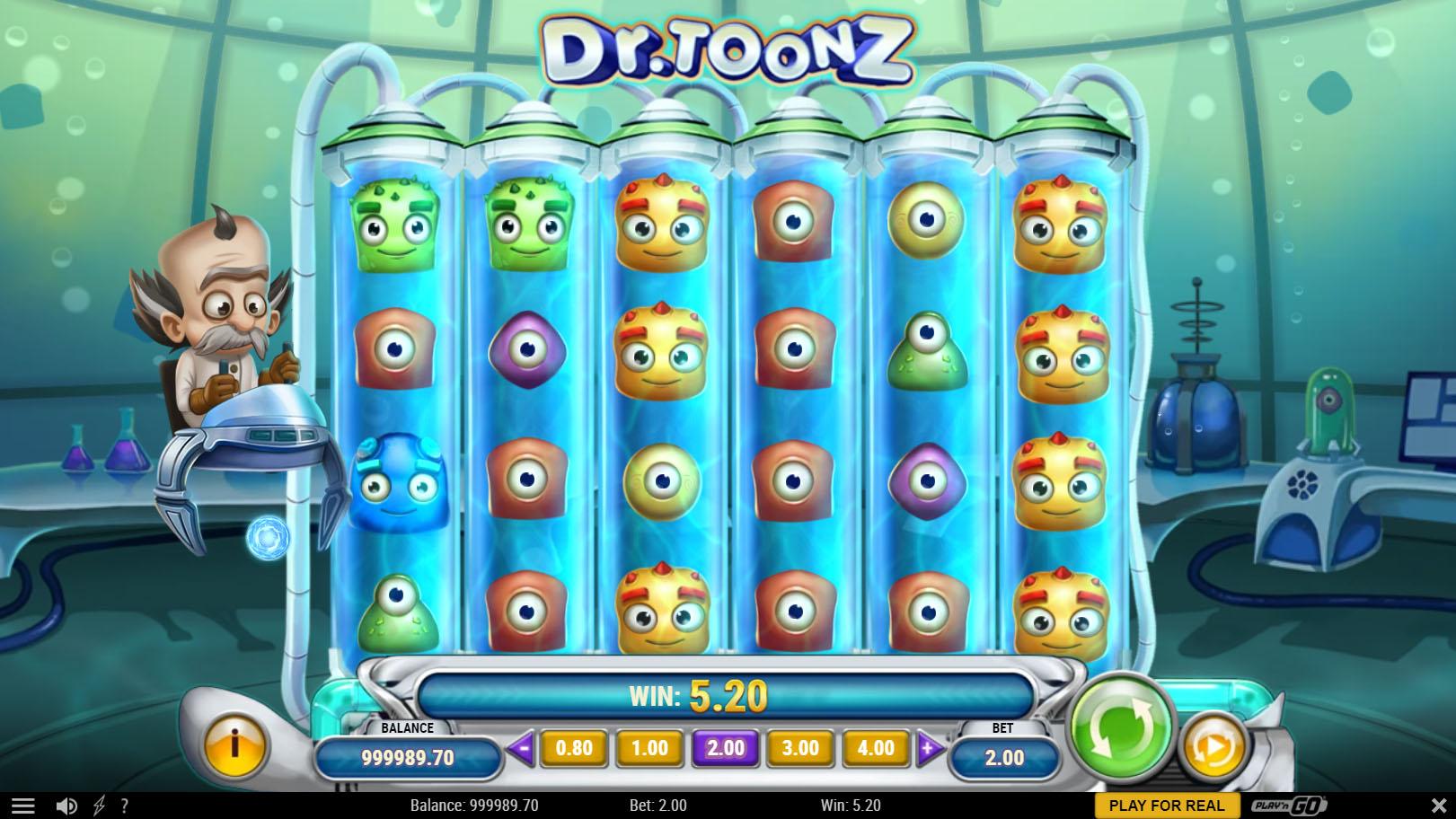 Dr Toonz slot screenshot 2