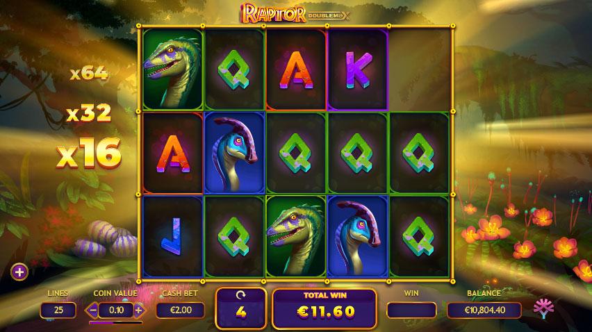 Raptor Doublemax Gratis spins screenshot